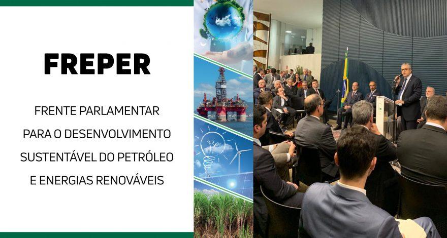 A Frente Parlamentar para o Desenvolvimento Sustentável do Petróleo e Energias Renováveis (Freper) reúneo o setor de petróleo e energias renováveis.