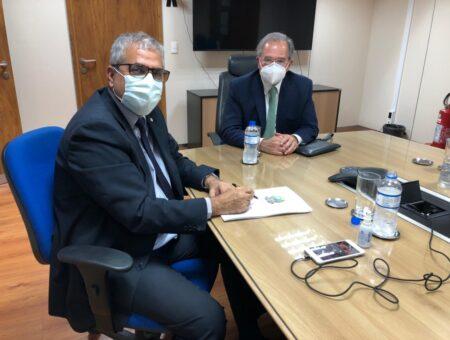 Christino se reúne com Ministro Paulo Guedes para discutir a Medida Provisória 1045/21